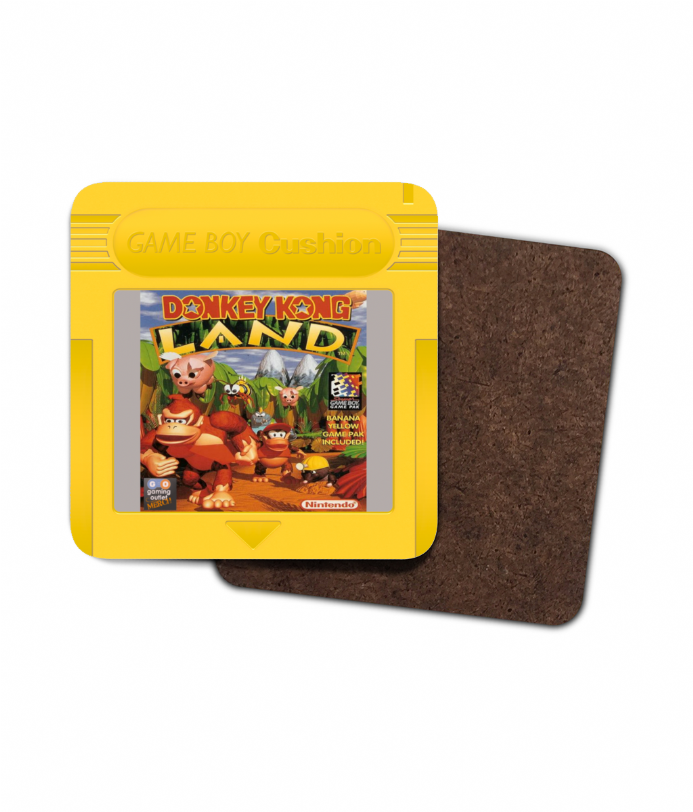Gameboy Donkey Kong Land Cartridge Single Hardboard Coaster